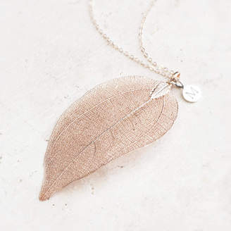 Elia Bloom Boutique Leaf Pendant Necklace