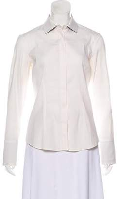 Brunello Cucinelli Long Sleeve Button-Up Top