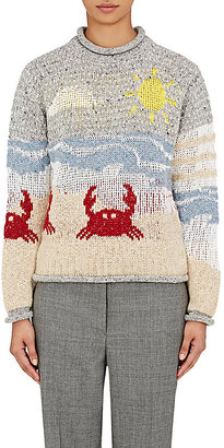 Thom Browne Women's Seaside Wool-Blend Sweater $490 thestylecure.com