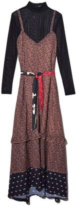 Veda West Dress in Abstract Leopard