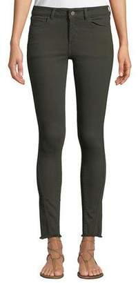 DL1961 Premium Denim Margaux Mid-Rise Instasculpt Frayed Skinny Jeans