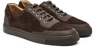 Harry's of London Mr.Jones 2 Tech Leather & Kudu Suede Dark Brown Trainer