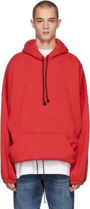 Balenciaga Red Oversized Hoodie