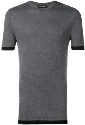 Neil Barrett contrast-hem fitted T-shirt