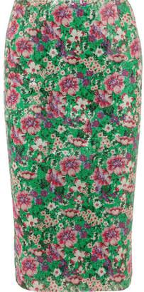 Paul & Joe Java Sequined Floral-print Tulle Midi Skirt