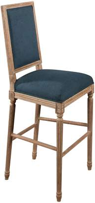 Abbyson Living French Blue Vintage Rectangle Back Bar Stool