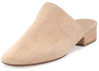 Vince Giorgia Suede Flat Mule $275 thestylecure.com