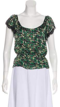 Anna Sui Printed Short Sleeve Top