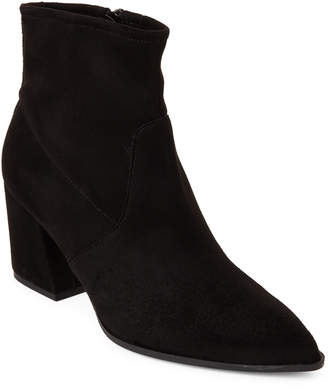 Gabriella Black Stretch Pointed Toe Suede Booties