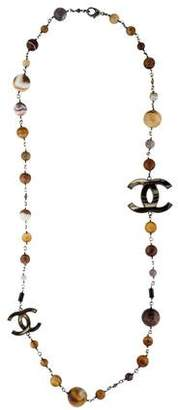 Chanel Mulistone CC Bead Strand Necklace