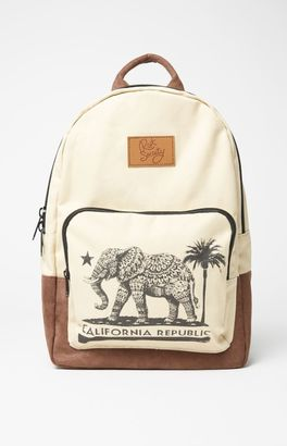 Riot Society Cali Elephant Canvas Backpack $44.95 thestylecure.com