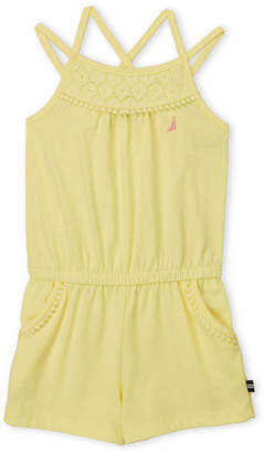 Nautica Toddler Girls) Yellow Lace Trim Jersey Romper