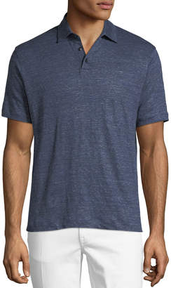 Ermenegildo Zegna Short-Sleeve Linen Polo T-Shirt