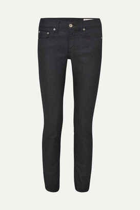 Rag & Bone Dre Mid-rise Slim-leg Jeans - Dark denim