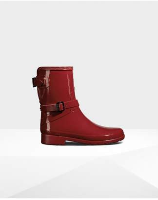 Hunter Womens Original Refined Adjustable Short Gloss Rain Boots