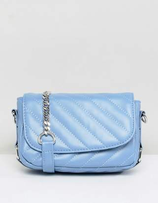 Pieces Quilted Cross Body Bag With Chain