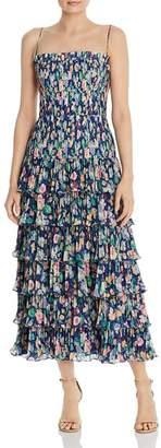 AMUR Viola Pleated Floral Dress