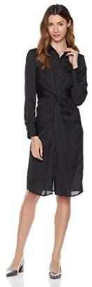 Essentialist Women's Long Sleeve Twist Front Shirt Dress