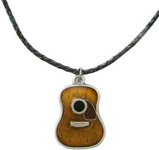 JEAN'S FRIEND New Vintage Guitar Music Metal Charm Pendant Leather Necklace