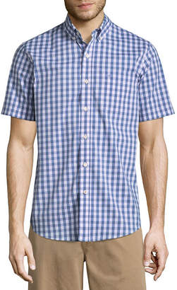 Dockers Short Sleeve Gingham Button-Front Shirt