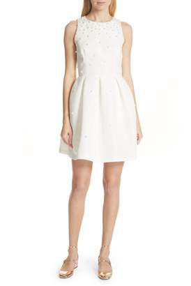 Ted Baker Faux Pearl Embellished Skater Dress