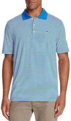 Vineyard Vines Performance Porter Stripe Regular Fit Polo Shirt $85 thestylecure.com