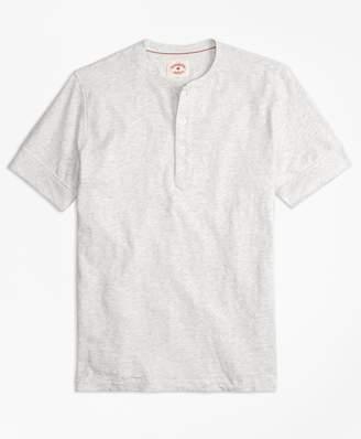 Brooks Brothers Slub Jersey Short-Sleeve Henley