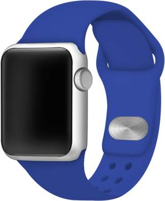 Affinity Bands Royal Blue Silicone Sport Band for 42mm and 44mm Apple Watch