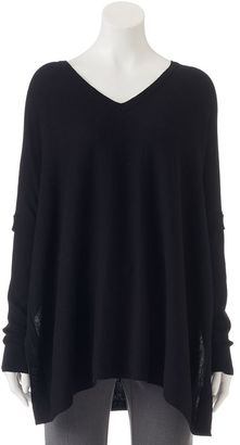 Women's Apt. 9® V-Neck Poncho Sweater $50 thestylecure.com