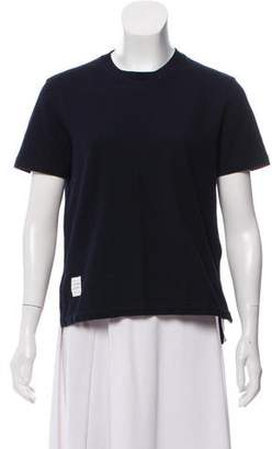 Thom Browne Short Sleeve Crew Neck Top