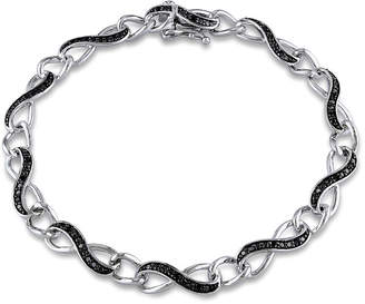 Black Diamond FINE JEWELRY 1/4 CT. T.W. Sterling Silver Infinity 7 Inch Tennis Bracelet