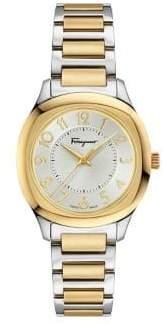 Salvatore Ferragamo Time Two-Tone Stainless Steel Bracelet Watch