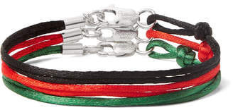 Rubinacci Set Of Three Silk Bracelets