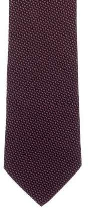 Charvet Silk Abstract Print Tie