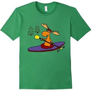 Smiletodaytees Funny Moose Kayaking Cartoon T-shirt