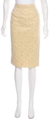 Celine Metallic Embroidered Skirt