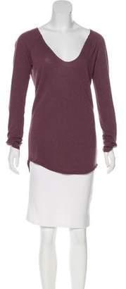 Zadig & Voltaire Tori Wool-Blend Long Sleeve Top