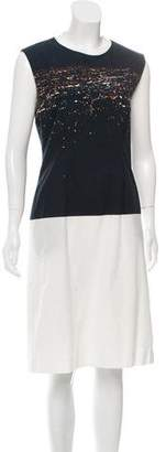 Dries Van Noten Silk Graphic Print Dress