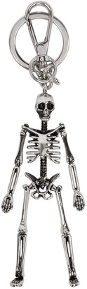 Alexander McQueen Silver Skeleton Keychain $275 thestylecure.com