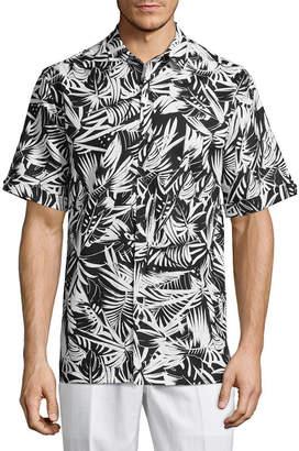 HAVANERA Havanera Short Sleeve Floral Button-Front Shirt