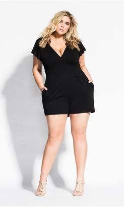 94b833a9fae7 at City Chic City Chic Citychic Deep V Playsuit - black
