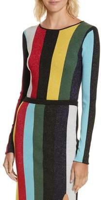 Diane von Furstenberg Metallic Stripe Sweater