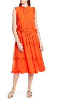 Ted Baker Sinita Tie Waist Midi Dress