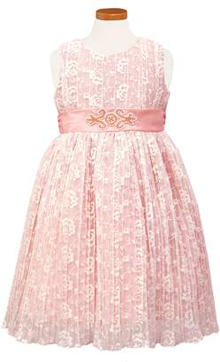 Sorbet Pleat Lace Party Dress