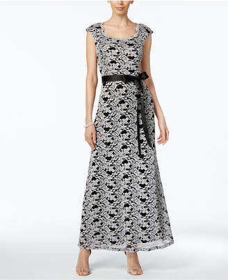 R & M Richards Lace Belted Gown $119 thestylecure.com