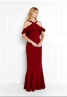 Rachel Zoe Baxter Cold-Shoulder Stretch-Crepe Gown