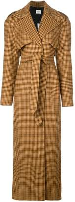 KHAITE long gingham trench coat