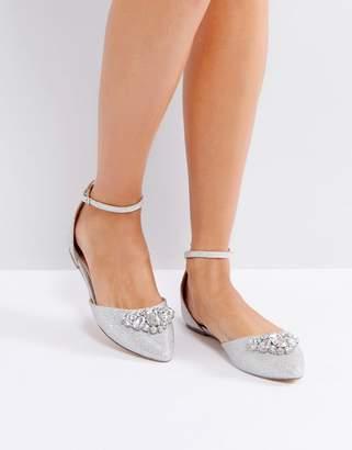Ravel Jewel Trim Point Flat Shoe