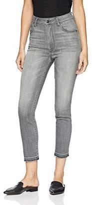Madison Denim Women's Bristol Ultra High Rise Slim-Straight Crop with Released Hem--