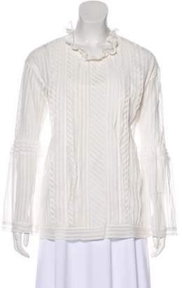 IRO Striped Lace Blouse